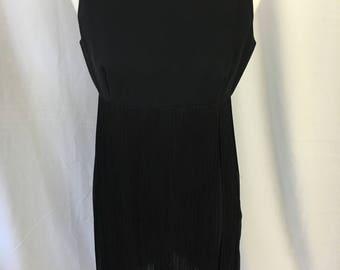 60's Does the 20's Pixie of California Black Fringe Dress
