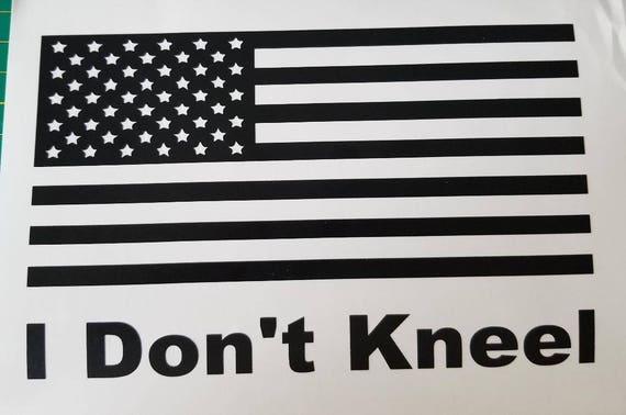 I dont kneel american support flag vinyl decal for your car jeep truck suv boat motorcycle
