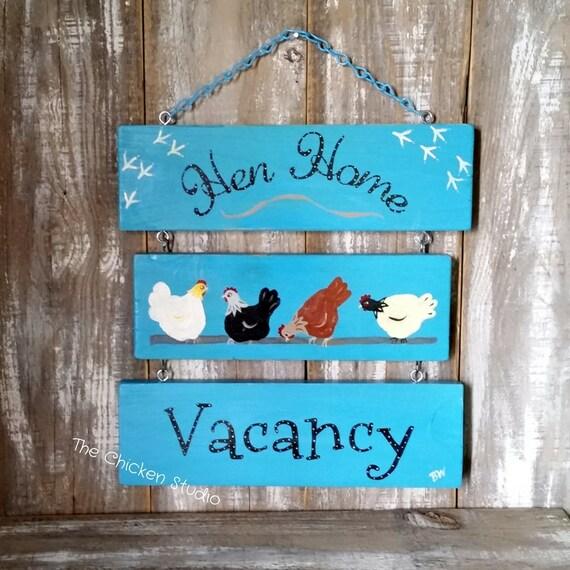 Huhn Stall Dekor Henne-Haus Chicken Coop Zeichen