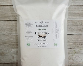 Natural Laundry Powder, Unscented Laundry Detergent, Eco Friendly Home, Natural Laundry Soap, Green Soap, Borax Free Laundry Detergent