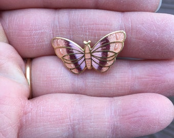 Vintage Jewelry Adorable Enamel Cloisonné Butterfly Pin Brooch