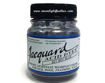Feather Dye, silk, wool, cashmere and Yarn Dyes - SKY BLUE Jacquard Acid Dyes - 1/2 Oz : 3727