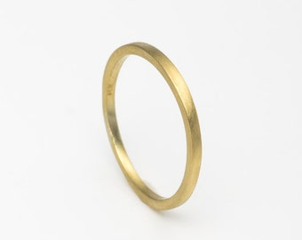 Classic Wedding Band, Skinny Gold Band, 14k Gold Wedding Band, Dainty Wedding Rings, Wedding Ring For Her