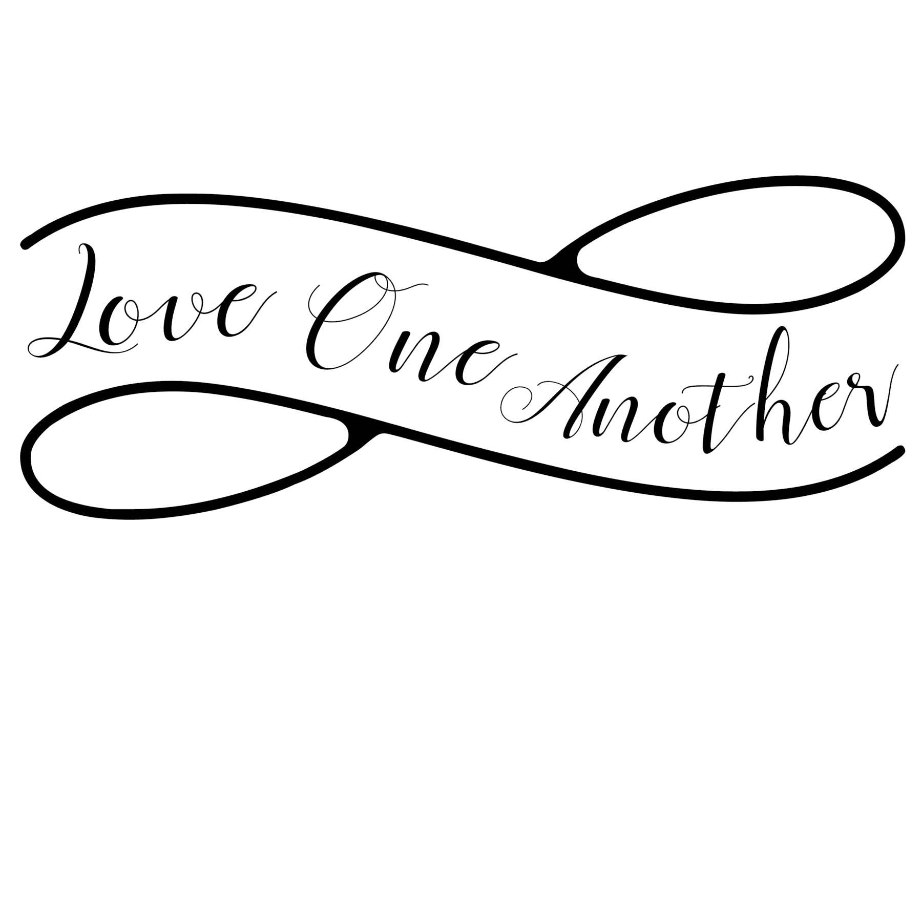 Love One Another Wall Art, Decorative Vinyl, Vinyl Wall Art, Love Quote,  Vinyl Wall Decal, Vinyl Wall Quote