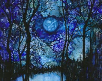 Starry x 3 Night print
