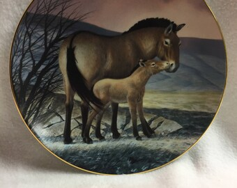 W.L. George Last of Their Kind - Endangered Species Collector Plate - 'Przewalski's Horse' (#129)