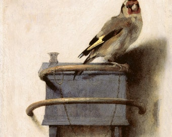 The Goldfinch by Carel Fabritius Home Decor Wall Decor Giclee Art Print Poster A4 A3 A2 Large FLAT RATE SHIPPING