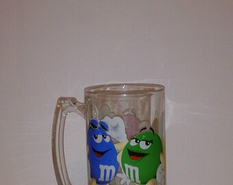 M&M Chocolate Candies Beer Mug Glass