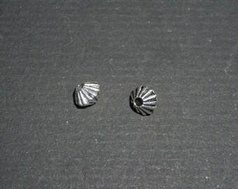 Set of 10 beads Tibetan silver spacer beads