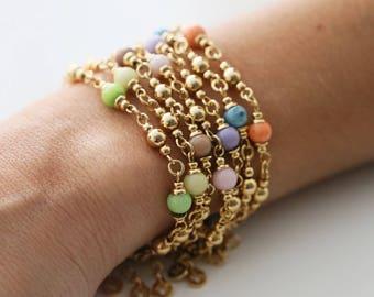 Bracelet pastel - Choisissez votre couleur