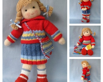 Tilly doll knitting pattern - INSTANT DOWNLOAD