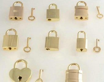 Vintage Heart Shape Padlock Key Suitcase