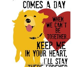 Golden Retriever Art Print, Digital Print, Wall Decor, Golden Retriever Memorial Art, Dog Art, Golden Retriever Poster