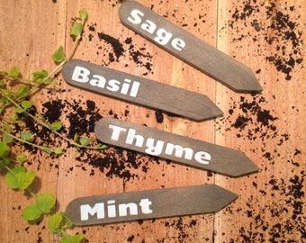 Herbal Plant Stakes Set of 4 Customizable Garden Stakes