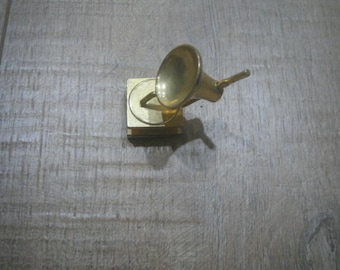 Very Small Brass Phonograph/Gramophone knick knack