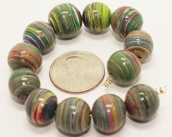 Polymer Clay Jupiter Beads (Set of 12)
