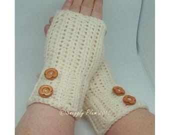 Gift, christmas gift, fingerless mittens, mittens, gloves, gift for her, button, crochet, handmade, gift idea