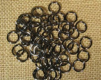 12mm 14ga Gunmetal Jump Rings - Choose Your Quantity