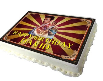 The Showman A4 Birthday Cake Topper with Any Name