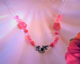 Handmade Hibiscus Flower Necklace