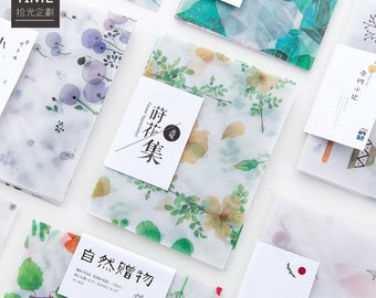 Translucent watercolour Flora Envelope 4pcs // Letter Envelopes // Vellum Envelope // Letter Writing Envelopes