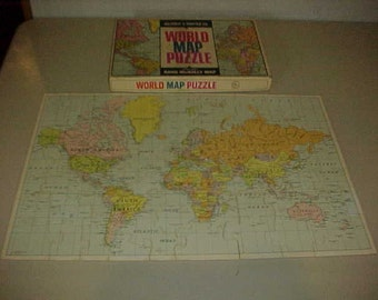 World Map Puzzle Complete Official Rand McNally Map