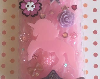 Pink Unicorn decoden iPhone 6 phone case