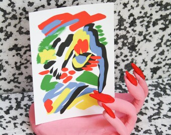 ABSTRACT FACE Postcard