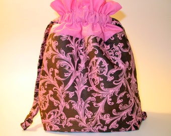Drawstring Project Bag - Pink Passion