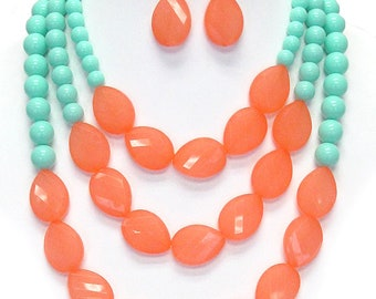 Chunky Multi colored necklace