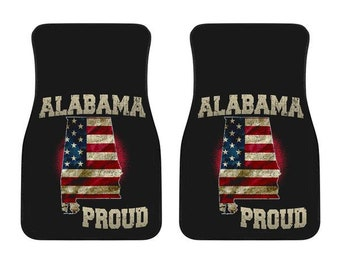 Alabama/Proud/American Flag/Car/Truck/SUV/Auto/RV/Floors Mats/Gifts/State Flag/Art/Home