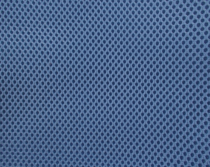 "60"" Wide Padded Foam Mesh Fabric SLATE BLUE Auto Upholstery Bags Shoes Backpacks Straps Crafts Spacer"