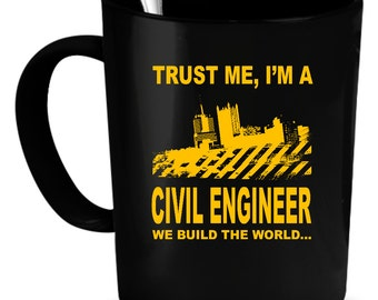 Civil Engineer Coffee Mug 11 oz. engineer gifts. Engineering mug. Civil engineer cup. Gifts for engineer