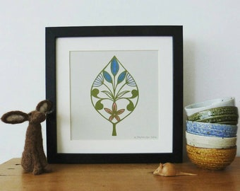 Art Deco inspired leaf, an original cut by Loula Belle at Home - only 1 available