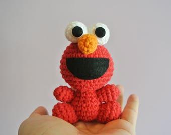 Crochet Elmo Amigurumi - Handmade Crochet Amigurumi Toy Doll - Sesame Street - Elmo Crochet - Amigurumi Elmo