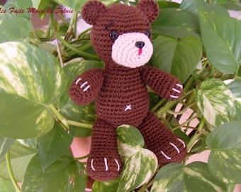 Brown Teddy bear crochet