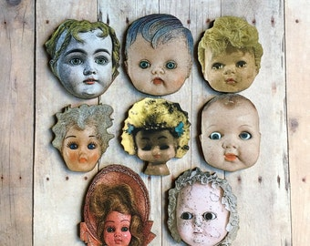 Doll Brooch Doll Parts Jewelry Doll Head Pin