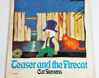 Teaser and the Firecat 1972 Childrens Vintage Book by Cat Stevens Scholastic