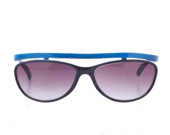 Outstanding flat top browline to arms with grey faded lenses sunglasses in 2 colors, NOS 1980s