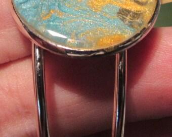 Blue & Gold Cuff bracelet