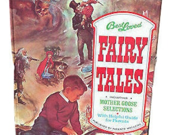 Vintage Best Loved FAIRY TALES Mother Goose Book * Parents Magazine 1974 Hardcover