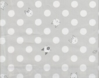 Dog Lovers Collection Fabric, Paws on White from SugarQuilts