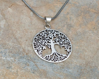Tree of Life Necklace // Hippie Necklace // Sacred Geometry Tree of Life Pendant // Sacred Geometry Jewelry // Necklace With Meaning