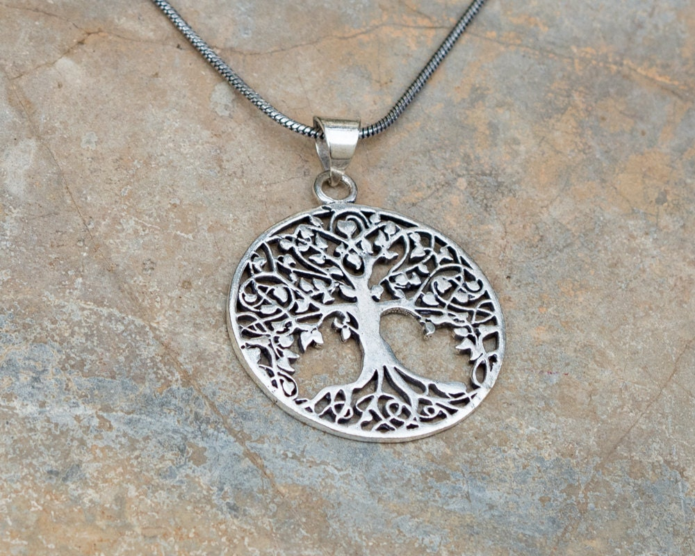 Tree of life necklace hippie necklace sacred geometry description silver plated over brass sacred geometry tree of life necklace aloadofball Images