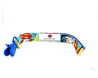 Medical Alert Pacifier Clip Baby Safety Alert Superman