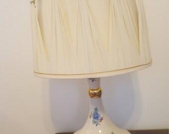 ON Sale, Porcelain Lamp, Flowered Porcelain, Vintage Lamp, Antique Porcelain  Lamp,