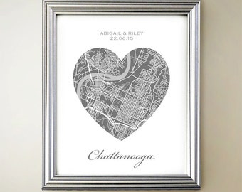Chattanooga Heart Map