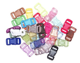 """Paracord Buckles 1/2"""" Standard - Choose from 30 Colors 11mm Webbing Slot 7/16"""""""