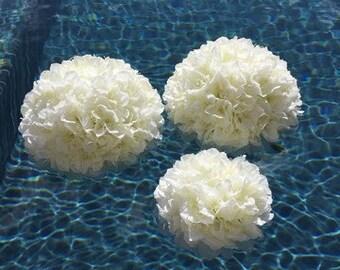 Wedding floating candle pool decoration Set of 10