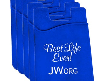 Business Card Holder or Credit Card Holder with Adhesive back for Cell Phones or Tablets - JW.org - Pioneer Gift - Set of 5 with each order